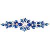 Crystal Motifs Floral 18cm Blue Aurora Borealis/gold